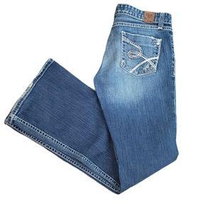 BKE   Sabrina 27 Distressed Sparkle Denim Jeans